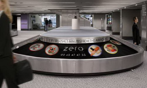 creative ads on conveyor belt