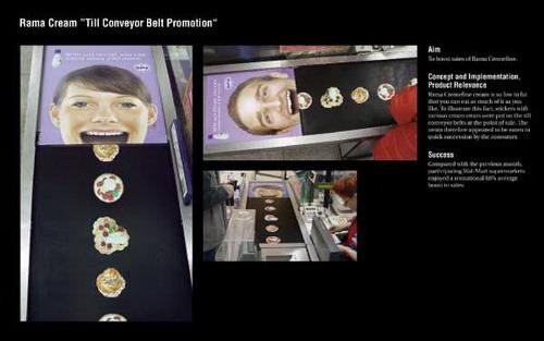 creative ads on conveyor belt