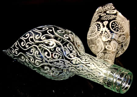 Recycle Art - Glass Bottle Carving