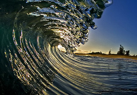 Photoes inside wave