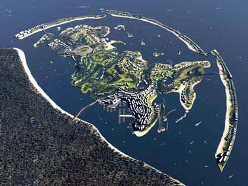 Islands in interesting shape