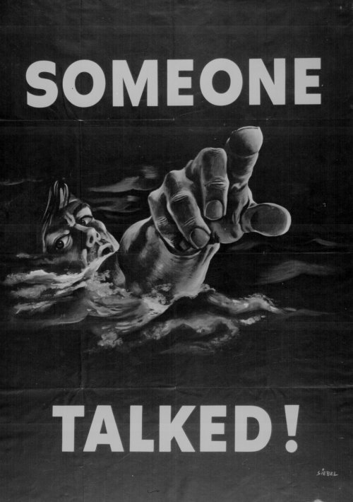 Poster from second world war
