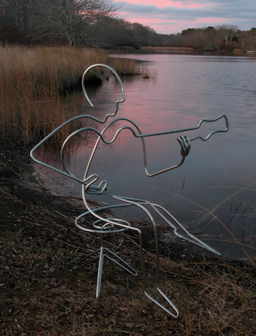 steel line sculptures